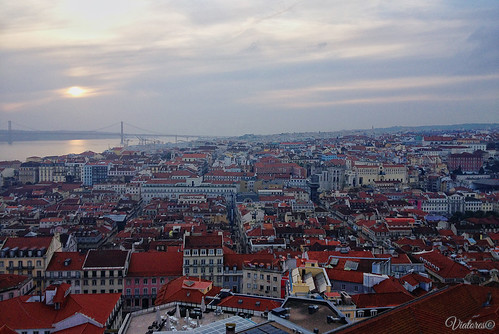 View from Castelo de Sao Jorge. Lisbon. Portugal