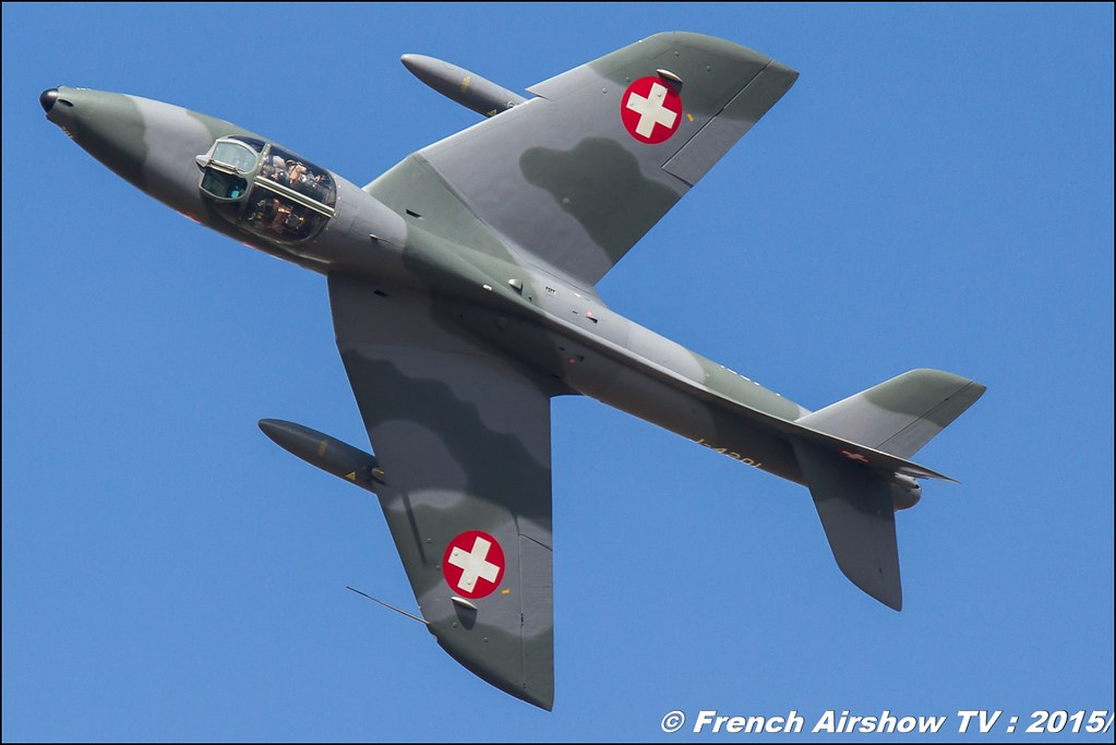 Hunter Hawker,Eric Hauer , Hunter Hawker Solo Display swiss, Fly in LFBK 2015 - Fly in Saint Yan 2015, Meeting Aerien 2015