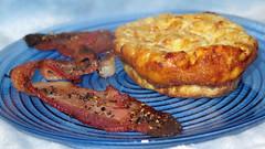 Jalapeño honey chèvre scrambled egg bake with pe…