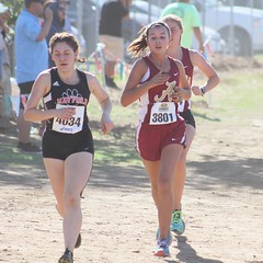 Juliana is our only female runner at CIF Prelims in Riverside. She's a freshman trying to qualify for finals next week. #running #crosscountry @cifss