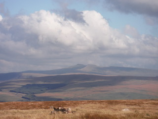 Pen y Fan and Corn Du, from Llyn y Fan Fawr