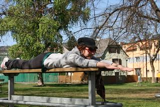 Milijana beim Planking 2