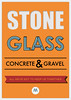 Stone Glass Concrete & Gravel Poster