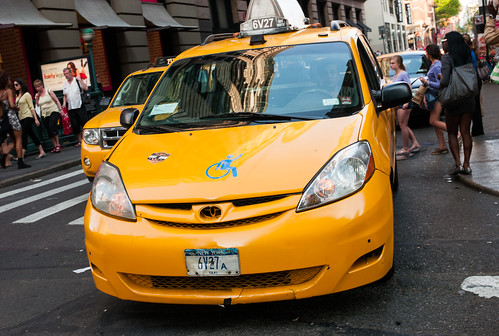 nyc taxi, will carry wheelchairs!