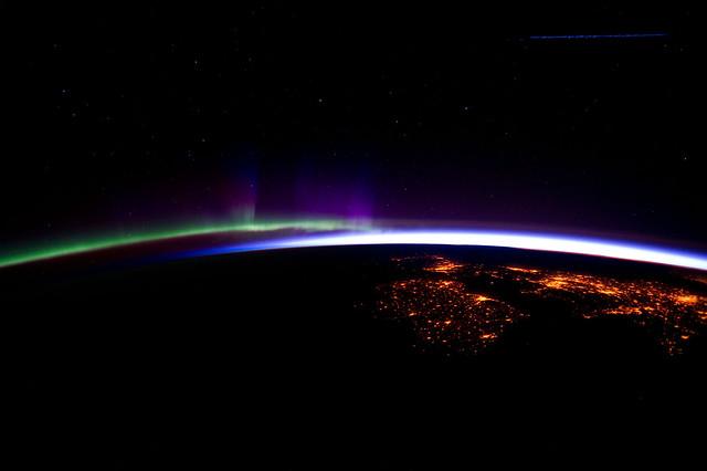 Eastern North Atlantic at Night (NASA, International Space Station, 03/28/12)