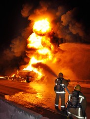 Tanker Erupts in Flames Following Los Angeles Freeway Collision