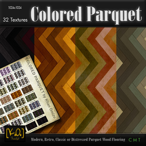 [K.O.] - Colored Parquet - 32 Textures by Khan Omizu