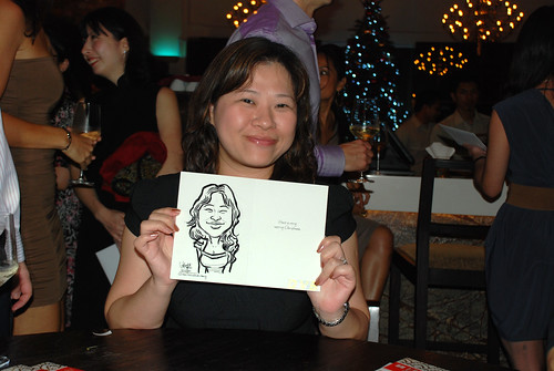 caricature live sketching for DVB Christmas party - 7