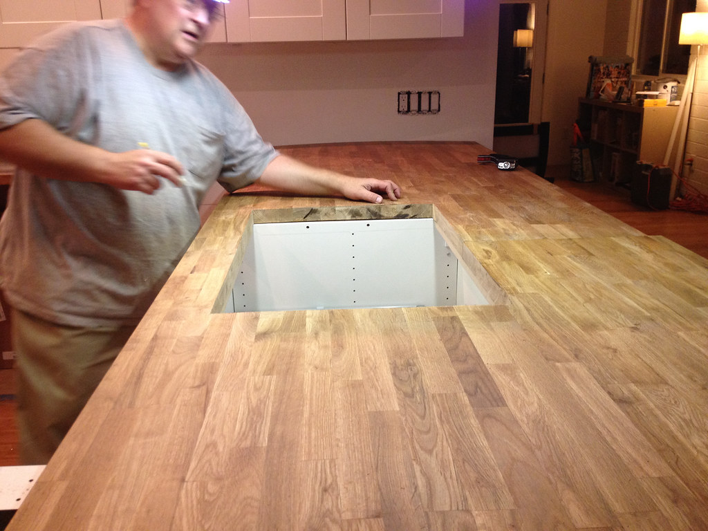 dry fitting the countertops