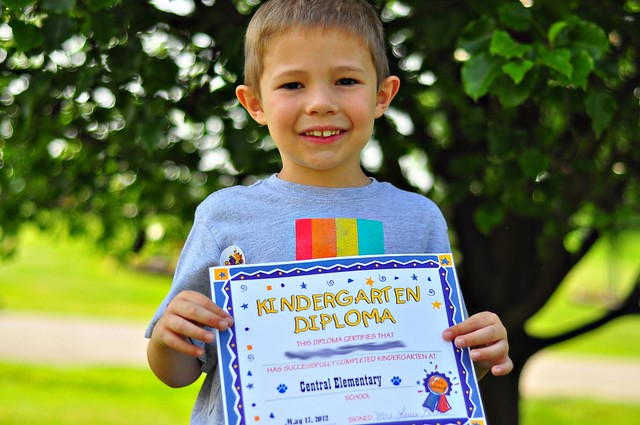 Wordless Wednesday: Kindergarten Diploma