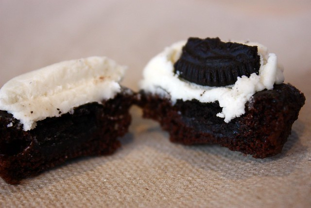 Miniature Cookies & Cream Cupcake innards