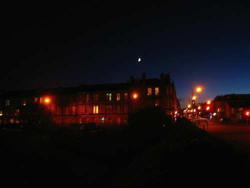 Moon over Pollokshields, Glasgow 10h45 p.m.