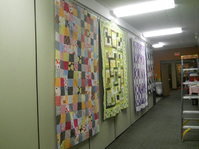 Hall of quilt tops!