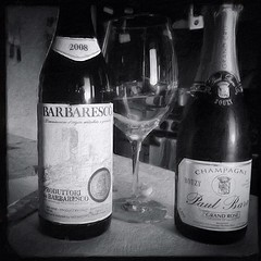 A proper birthday 1-2 punch. Bubbles and Barbaresco.