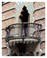 Foto de un balcón de Casa Vicens