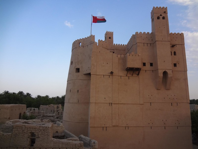 Fortaleza perto de Nizwa, Omã