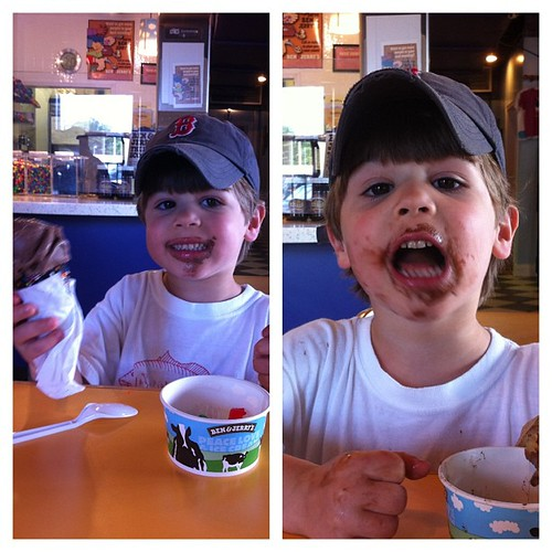 Ice cream date with my biggest!  #ithinkhelikedit