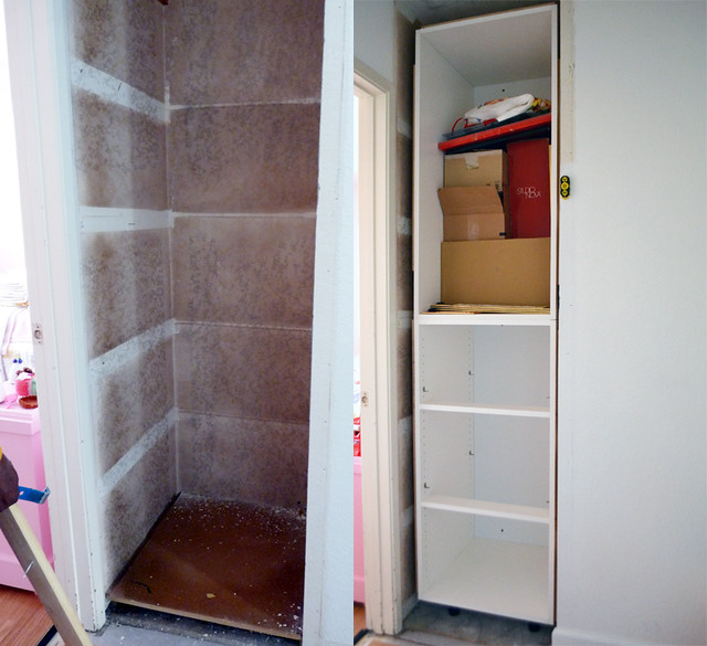 Linen Closet in Progress