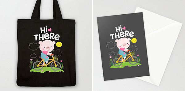Pig on a Bike by Wedgienet.net