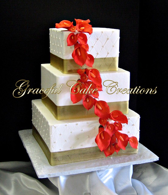 Burnt Orange Wedding Cakes