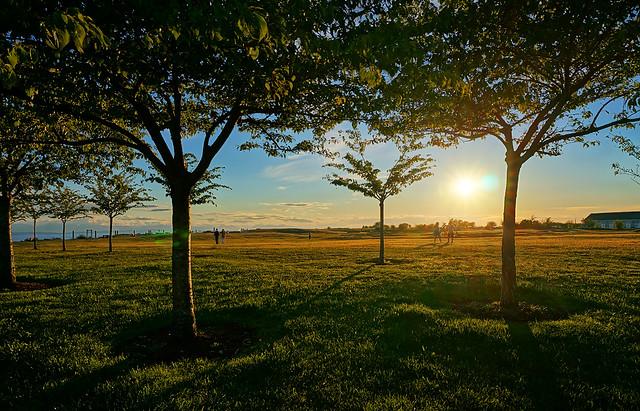 Steveston's Garry Point Park at Sunset