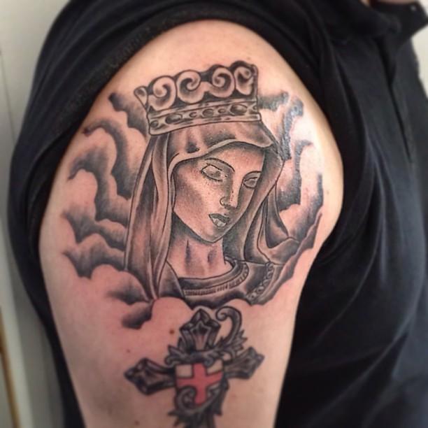 tatz #tattoo #ink #religious#religioustattoo#aaroncain #t… | Flickr