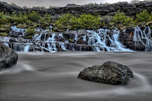 Iceland Hraunfossar Long Exposure Time & HDR 2