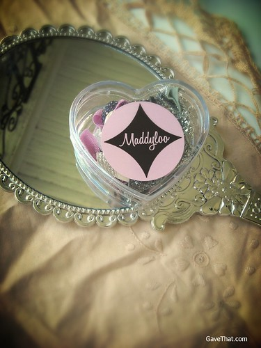 Maddyloo Heart Box Hair Ties Gift Box in Silver Orchid