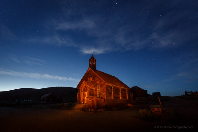 Bodie Church at Blue Hour