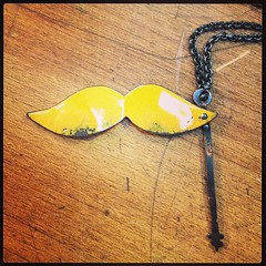 Moustache necklace finished. #instajewelrygroup