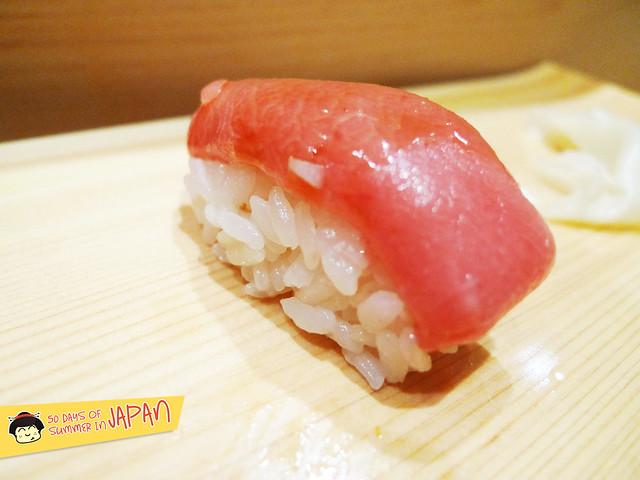 Sushi Bar YASUDA in Tokyo - Old Toro. Head Portion Toro (tuna)