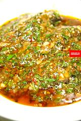 藿香鲫鱼 (Hyssop Steamed Fish)