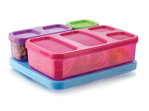 LunchBlox Kids Flat Kit - Pink, Purple, Green