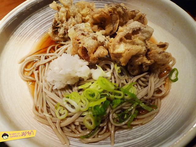 TOFURO - Edo Washoku - cold soba with maitake mushroom tempura