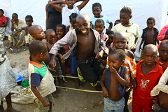 Children in the Bubukwanga refugee camp