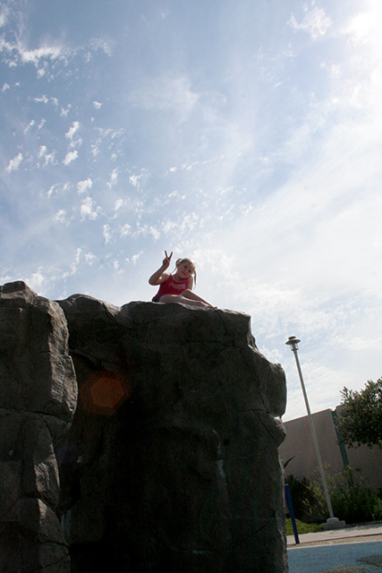 Annalie up high