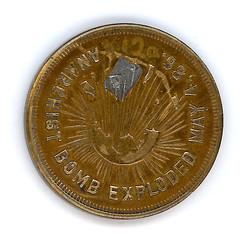 Chicago Historical Society Haymarket token obverse