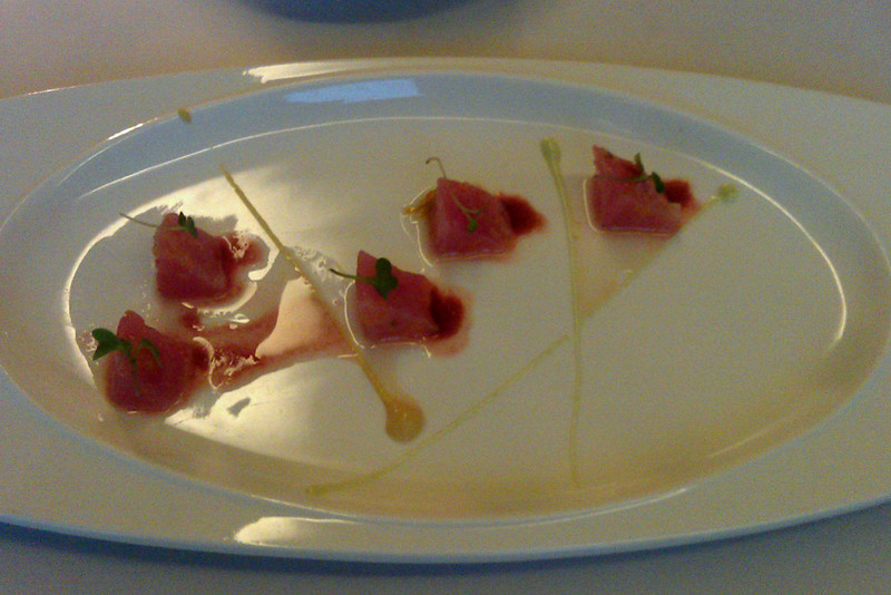 The Goose Station's tuna crudo