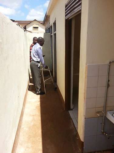 GDPU Chairman Ongon Simon inspects the renovated facility