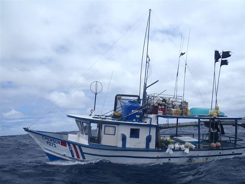 2,123 lbs. of cocaine were seized from this fishing vessel in the Eastern Pacific Ocean by U.S. Coast Guard and Navy