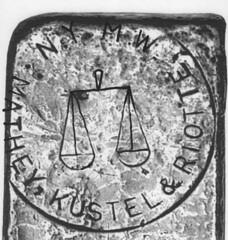 130 -Mathey, Kustel & Riotte Silver Ingot-Logo Reconstructed