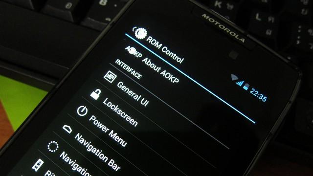 AOKP Motorola RAZR