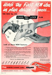 1953 Channellock Pliers Advertising Motor Trend January 1953
