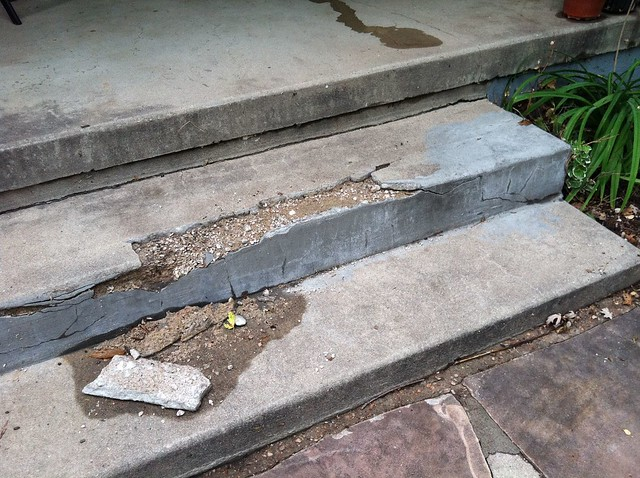 Front Step Damage