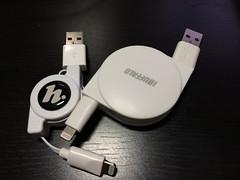 iBUFFALO USB2.0ケーブル(A to Lightning)巻き取りタイプ