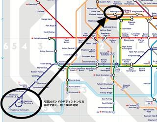 ロンドン地下鉄・空港から市内