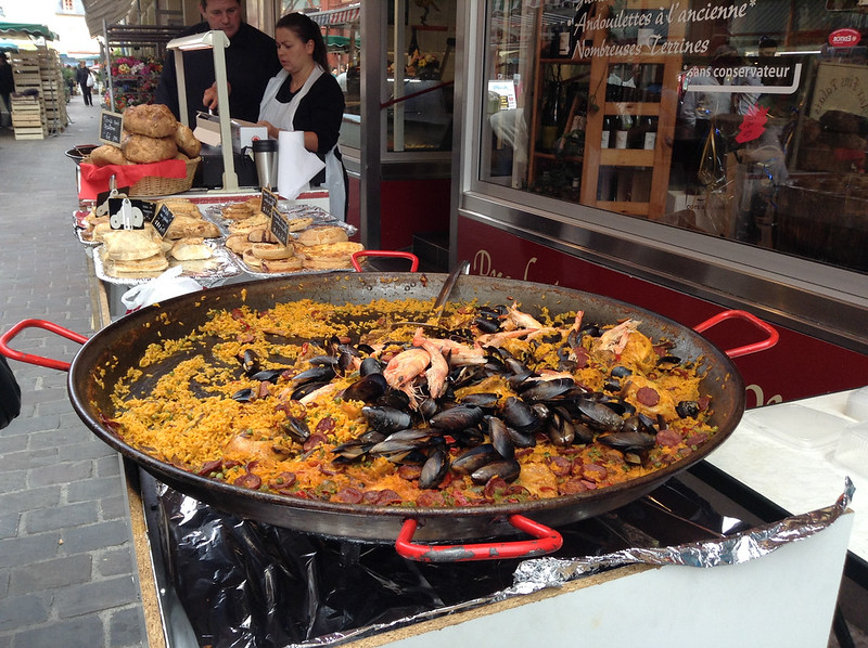 Paella in the middle of France.