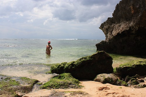 enjoying our secret beach