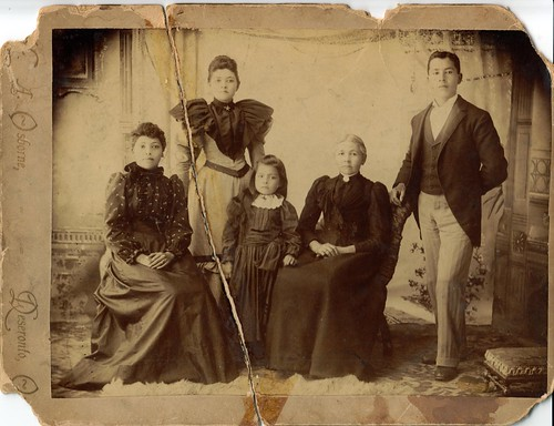 Members of the HIll family in around 1892