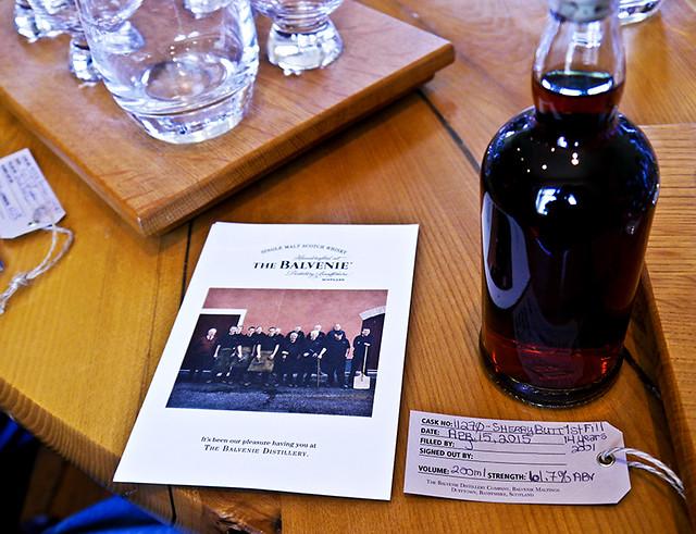 photo - Personal Bottle of Cask-Strength Single Malt, Balvenie Distillery